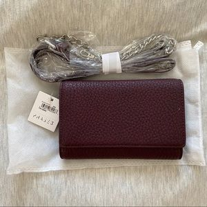Phase 3 Maroon Burgundy Clutch Crossbody Handbag